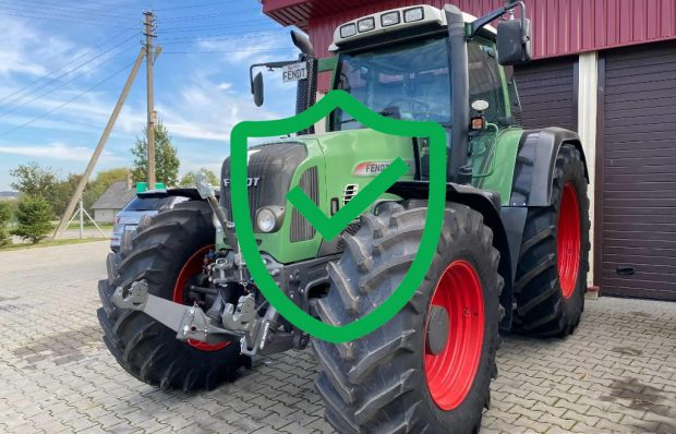 Equipment loan for a tractor Fendt 820 Vario TMS