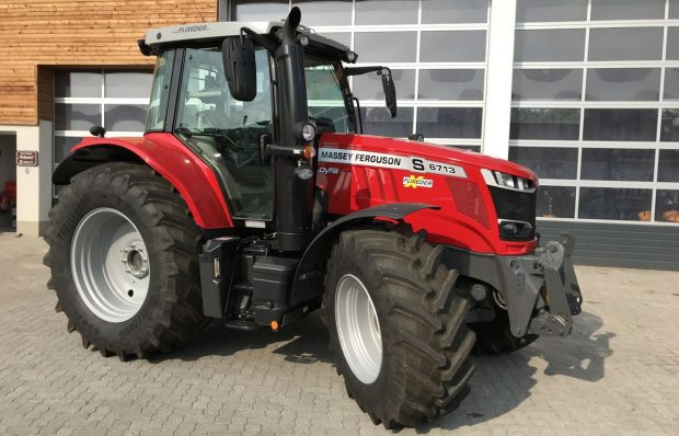 Equipment loan for a tractor, a front-mounted mower/rake